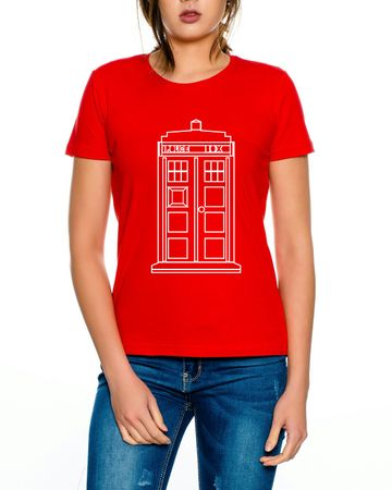 Doctor Line Who Box time police space dr tv Women T-Shirt – Bild 4