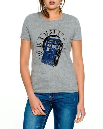 Doctor Rom Line Who Box time police space dr tv Women T-Shirt – Bild 1