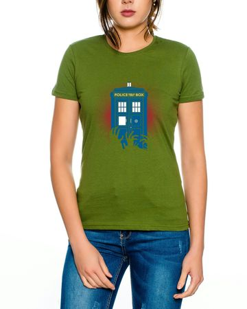 Doctor Zombie Line Who Box time police space dr tv Women's T-shirt – Bild 2