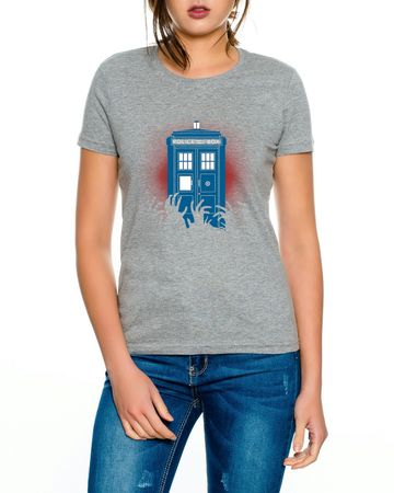 Doctor Zombie Line Who Box time police space dr tv Women's T-shirt – Bild 5