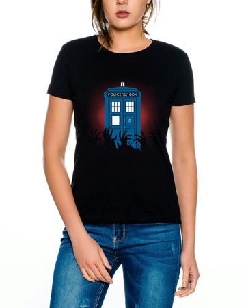 Doctor Zombie Line Who Box time police space dr tv Women's T-shirt – Bild 1