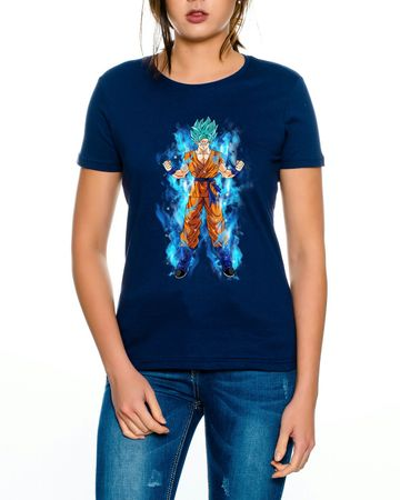 Goku Blue Aura Women T-Shirt – Bild 1