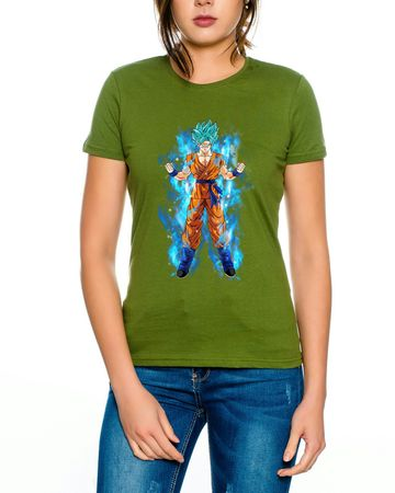 Goku Blue Aura Women T-Shirt – Bild 3