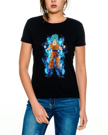 Goku Blue Aura Women T-Shirt – Bild 4