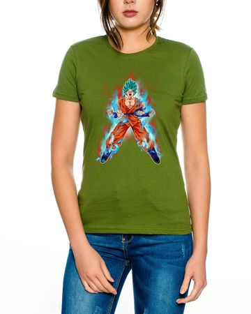 Goku Blue Fire Women T-Shirt – Bild 3