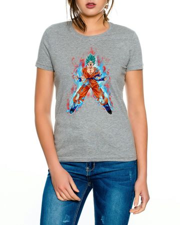 Goku Blue Fire Women T-Shirt – Bild 2