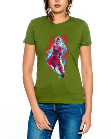 Goku Red Fire Women T-Shirt – Bild 3