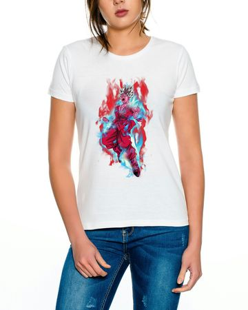 Goku Red Fire Women T-Shirt – Bild 5