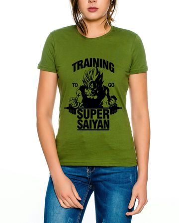 Super Saiyajin Damen T-Shirt – Bild 3