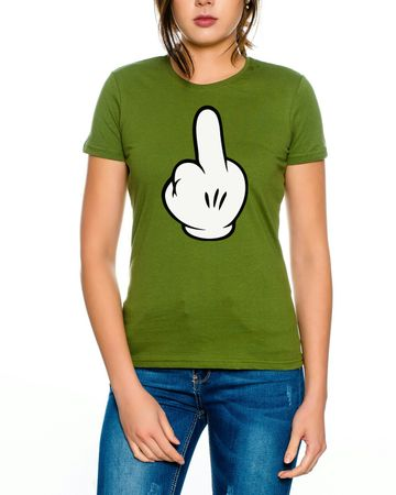 Finger Cartoon art Women T-Shirt – Bild 6