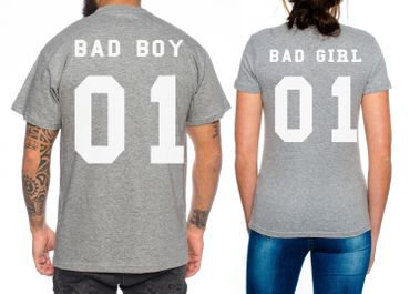 Bad Boy Bad Girl Partner Look Pärchen T-Shirt Set – Bild 3