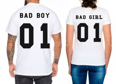 Bad Boy Bad Girl Partner Look Pärchen T-Shirt Set – Bild 2
