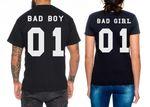 Bad Boy Bad Girl Partner Look Pärchen T-Shirt Set 001