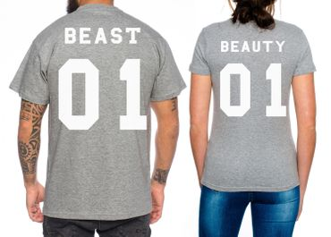Beast BeautyPartner Look Pärchen T-Shirt Set – Bild 3