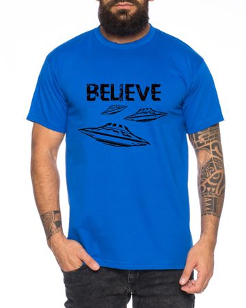 Believe Ufo Men T-Shirt – Bild 2