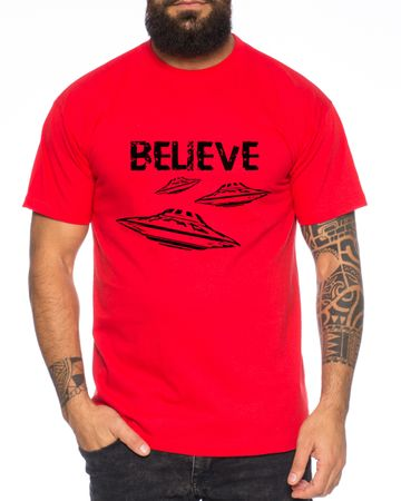 Believe Ufo Men T-Shirt – Bild 1