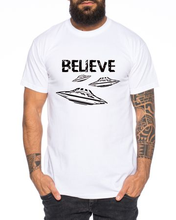 Believe Ufo Men T-Shirt – Bild 3