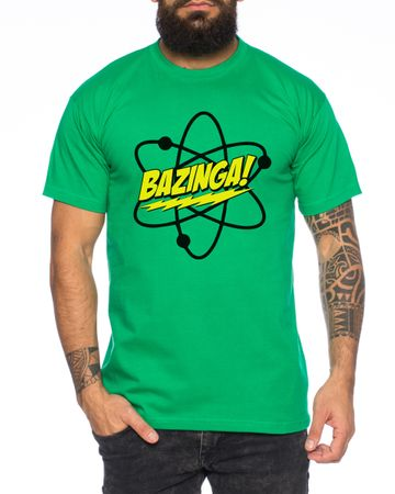 Big Bazinga Science Bang Theory Nerd Men's T-Shirt  – Bild 1