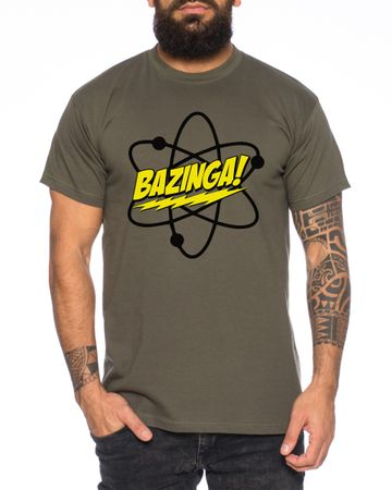 Big Bazinga Science Bang Theory Nerd Men's T-Shirt  – Bild 2