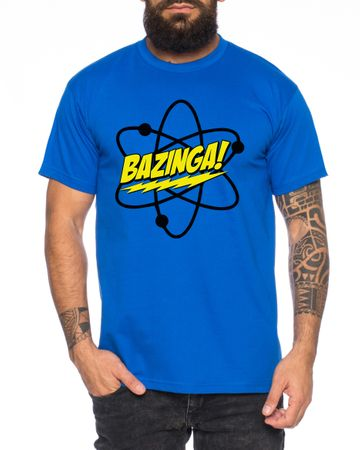 Big Bazinga Science Bang Theory Nerd Men's T-Shirt  – Bild 4