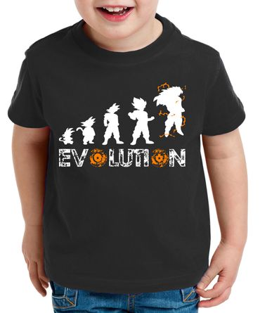Evolution Super Son Kids T-Shirt Goku Dragon Master Ball Vegeta Turtle Roshi Db – Bild 1