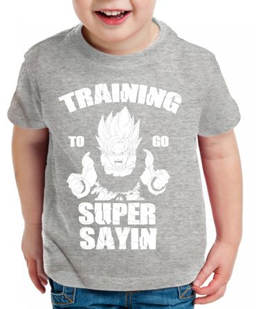 Training to go Super Saiyan Kinder T-Shirt – Bild 3
