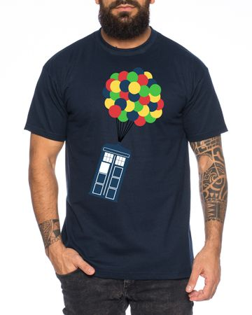 Ballon Doctor UK Who Space Box dalek dr police doctor Men's T-Shirt – Bild 4