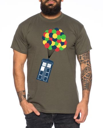 Ballon Doctor UK Who Space Box dalek dr police doctor Men's T-Shirt – Bild 1