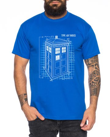 Blaupause Doctor UK Who Space Box dalek dr police doctor Men's T-Shirt – Bild 3