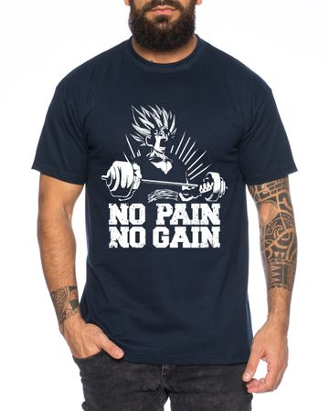 Gohan No Pain No Gain One Goku Dragon Master Son Ball Gym Vegeta Roshi Piece Golds Men's T-Shirt  – Bild 2