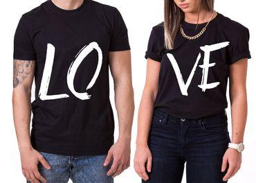 Love King Queen Partnerlook Couple T-Shirt Set Mouse – Bild 1