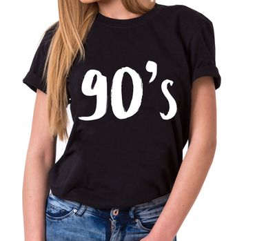 90´s Trendiges Damen T-Shirt Boyfriend Statement Shirts – Bild 1