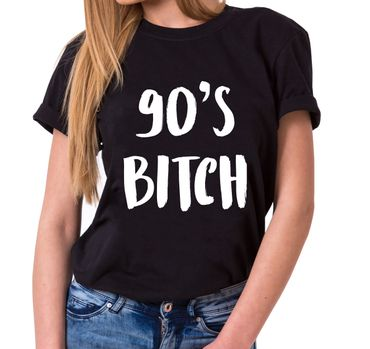 90's Bitch Trendy Ladies T-Shirt Cotton with print – Bild 1