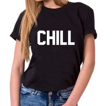 CHILL Trendy Ladies T-Shirt Cotton with print