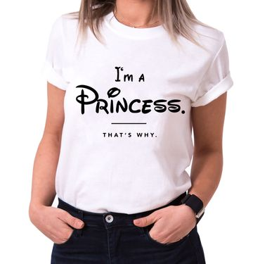 I´m a Princess Trendy Ladies T-Shirt Cotton with print – Bild 2