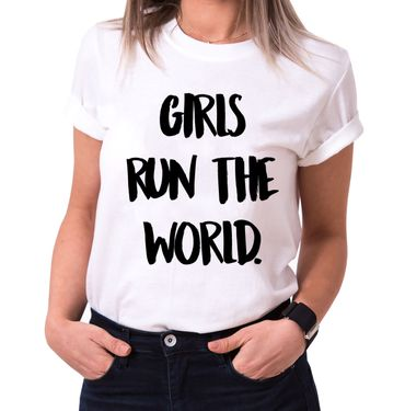 Girls run the World Trendy Ladies T-Shirt Cotton with print – Bild 2