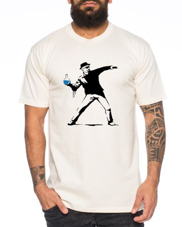 Banksy Walter Heisenberg Men's T-Shirt Golden Moth Breaking Chemical Motte Bad Chemistry – Bild 1