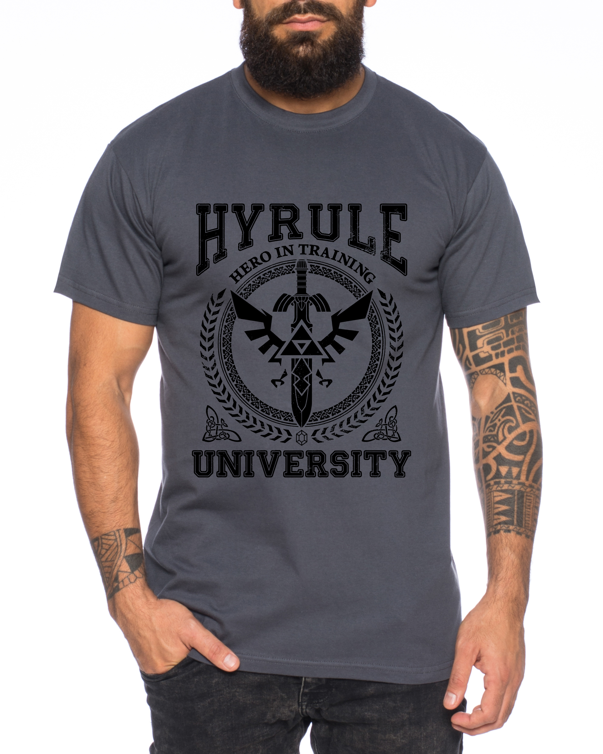 wholesale dealer 0f208 329f8 University of Hyrule Herren T-Shirt link Wappen gamer snes ocarina