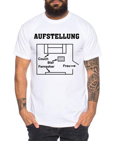 Aufstellung Herren T-Shirt Cooles lustiges Fun-Shirt – Bild 2