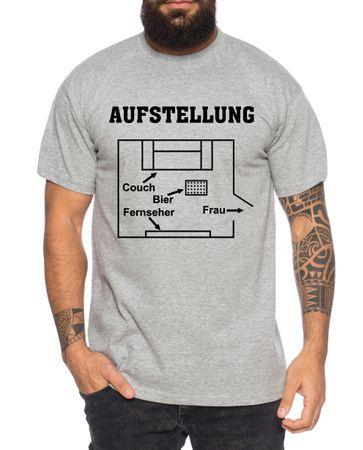 Aufstellung Herren T-Shirt Cooles lustiges Fun-Shirt – Bild 4