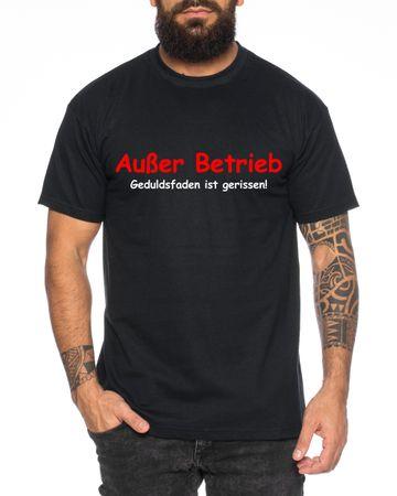 Außer Betrieb Herren T-Shirt Cooles lustiges Fun-Shirt – Bild 3