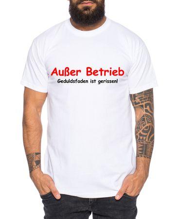 Außer Betrieb Herren T-Shirt Cooles lustiges Fun-Shirt – Bild 2