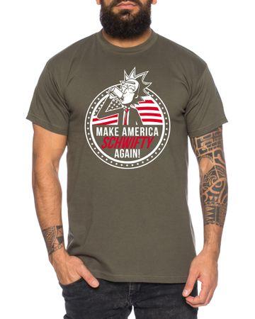 Make America Schwifty again Men's T-Shirt Morty dan Sanchez Mr Rick Meeseeks Harmon  – Bild 2