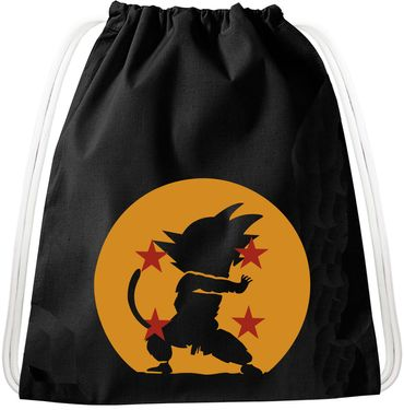 Kame Goku Dragon Backpack Bag Gym Bag Sport Jute Pouch, Backpack