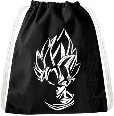 SS White Hair Goku Dragon Backpack Bag Gym Bag Sport Jute Pouch, Backpack