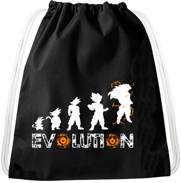 Evolution Goku Dragon Backpack Bag Gym Bag Sport Jute Pouch, Backpack