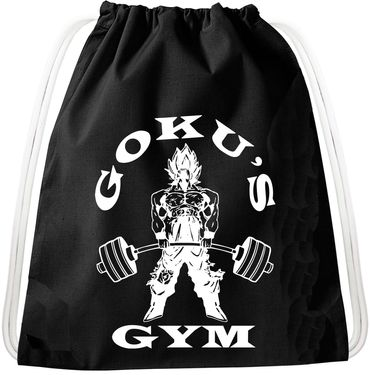 Golds Gym Goku Dragon Backpack Bag Gym Bag Sport Jute Pouch, Backpack