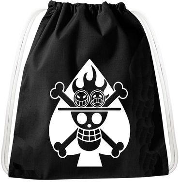 Ace Logo Luffy Pirate Backpack Bag Gym Bag Sport Jute Pouch Pirate Gang