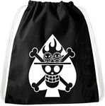 Ace Logo Luffy Pirate Backpack Bag Gym Bag Sport Jute Pouch Pirate Gang 001