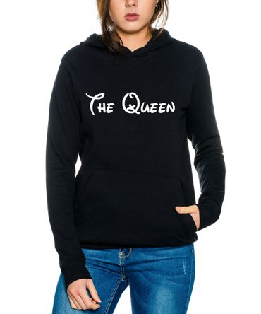 The King The Queen Partner Look Pärchen Valentinstag Hoodie – Bild 3